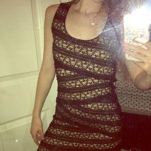 Max Studio sleeveless black & nude dress, Size XS